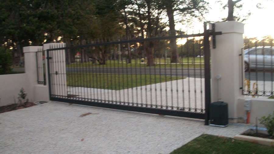 Automated Sliding Pedestrian Gates Perth Marchants